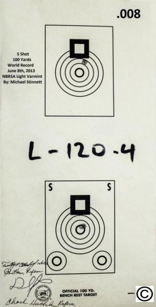 5 skudd @ 100yrd, ny verdensrekord