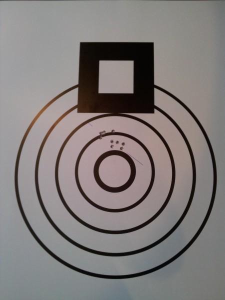 Ny Norsk Rekord. Minste gruppe 500mtr UNL = 42,6mm